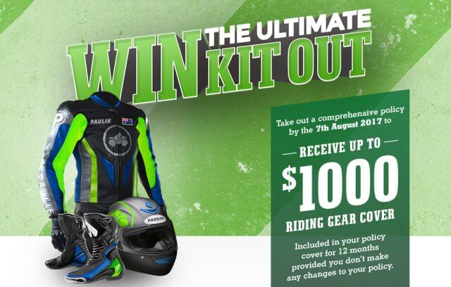 WIN THE ULTIMATE KIT OUT FOR MOTORCYCLE RIDE PROTECTION